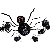 Jxfrice Kit de globos de Halloween, juego de globos de araña, color blanco y negro, para decoración de salón de clases