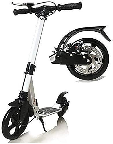 BAIRU monopatín Patinete Freestyle Kick Scooters | Scooter de cercanías con Disco y Freno de Mano | Handlebar de 3 Altura de Nivel, Carga de 150 kg (Color : White)