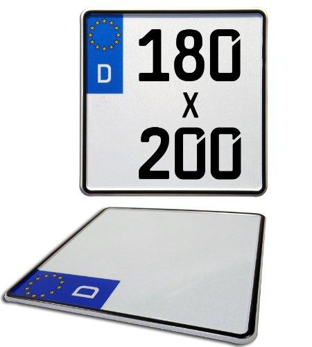 Preisvergleich Produktbild Motorrad Kennzeichen / Euro Nummernschild - 180mm x 200mm