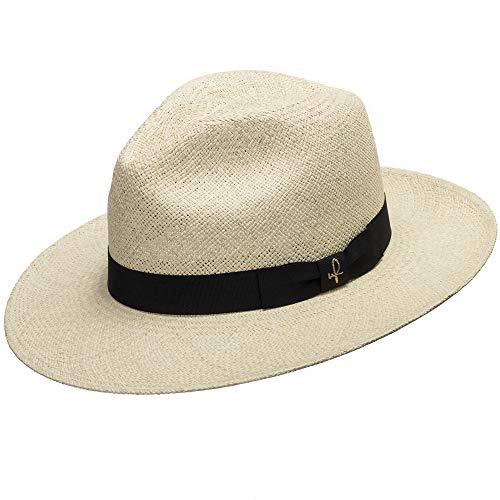 Ultrafino Fedora Packable Foldable Panama Straw Hat Classic 7 1/4
