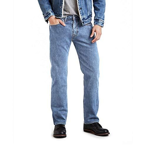 Levi's 505 Regular Fit Jean Jeans, Shooting Star Stonewash-Stretch, 36W / 30L Uomo