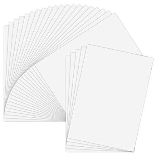AIEX 25 Hojas Vinilo Imprimible Papel Adhesivo Autoadhesivo Impermeable Blanco Mate Para Impresora Láser y De Inyección De Tinta A4 (297x210mm)