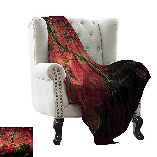 LsWOW - Manta de psicodélico para bebé, Figura de camaleón de Arte Pop con Elementos Originales de Arte de Reptil, Manta cálida otoño e Invierno