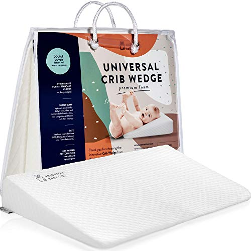 Brighton Baby Co. Crib Wedge for Reflux. Baby Wedge. Crib Wedge 100% Hypoallergenic Cotton Cover