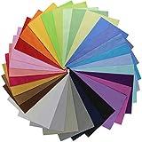 aufodara 31 Pezzi 30 x 25 cm Tessuti Tessuto Cotone Stoffa Patchwork Tinta Unita Bundle Tessuto Cucito Creativo DIY Fatto a Mano (31 Pezzi 30 x 25 cm, Multicolore)
