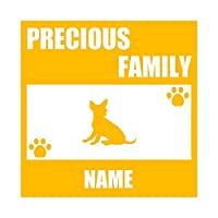 ForzaGroup 全犬種 全猫種対応 チワワ2 (137-52) 犬 イヌ 車 ステッカー 名前入れ