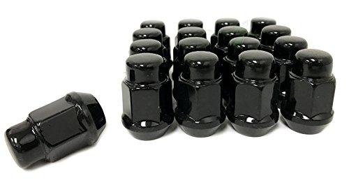 16 EZ-GO CLUB CAR GOLF CART BLACK LUG NUTS | 1/2X20 CLOSED END FOR GOLF CARTS
