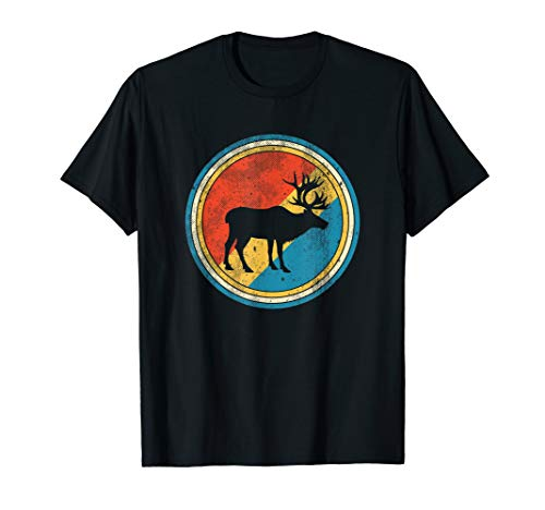 Vintage Reindeer - Distressed Caribou Lover T-Shirt