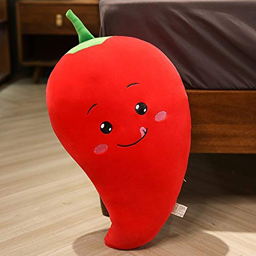 N / A Cartoon carrot pepper corn plush toy cute simulation eggplant sofa pillow pillow stuffed toy kid girl room decoration gift birthday gift without battery 50cm