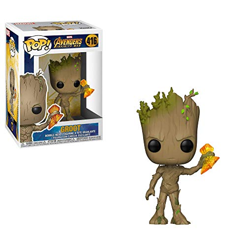 Funko 35773 Pop Bobble: Marvel: Infinity War S2: Groot W/ Stormbreaker