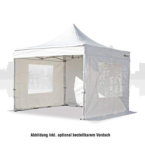 Main-Zelt Tienda de campaña de 4 x 4 m (PVC) sin Paredes Laterales, Cabina de Mercado, Carpa de Ventas, Carpa Plegable, Estructura Variante de Negocios