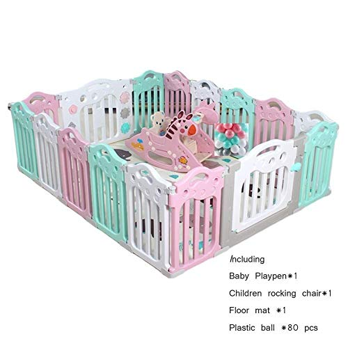 Sale!! JN Child Safety Fence Baby Playpen Child Toddler Playground Safety Gate Protection Plastic Pa...