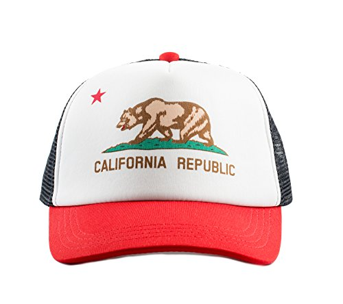 Born to Love Baby Boy Infant Trucker Hat Snap Back Sun Mesh Baseball Cap XS, California Republic Hat