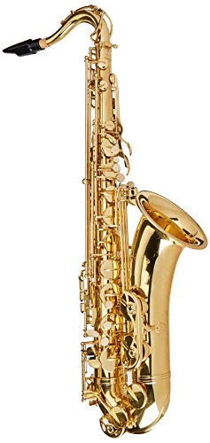 Crystalcello CWD420 B Flat Lacquer Plated Tenor Saxophone and Accessories
