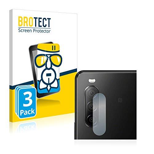 brotect Pellicola Protettiva Vetro Compatibile con Sony Xperia 10 II (Camera) (3 Pezzi) Schermo Protezione Durezza 9H, Anti-Impronte, AirGlass