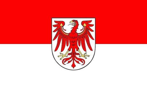 Qualitäts Fahne Flagge Brandenburg 90 x 150 cm mit verstärktem Hissband