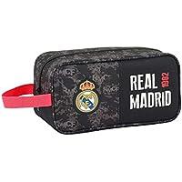 Real Madrid CF Bolso Zapatillas zapatillero 29 cm. Accesorio de Viaje-Neceser, Niños, Negro