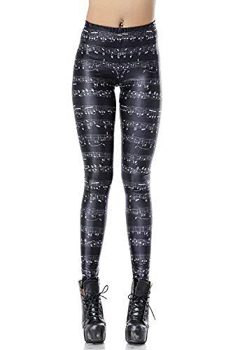 Mieuid Mujer Leggings para Estampado Estampado Friends Pantalones Slim Chic Elásticos Fit Cintura Elástica Entrenamiento Fitness Pantalones De Chándal Pantalones (Color : Colour, Size : One Size)
