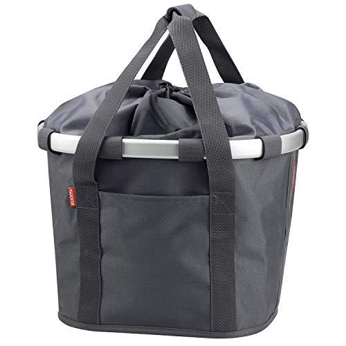 KlickFix Unisex– Erwachsene Bikebasket Gepacktasche, schwarz, 1size