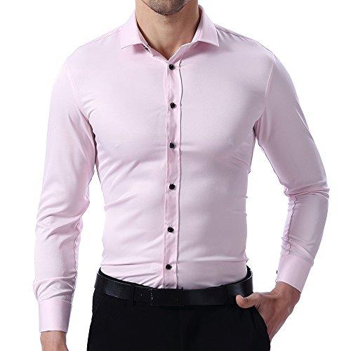 Camisa de vestir corte estrecho varios colores -de fibra de bambú más fresca – varios colores