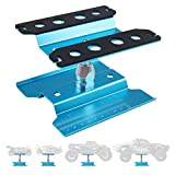 Crazepony-UK RC Car Stand Aluminum Repair Work Station Rotate 360° for 1/12 1/10 1/8 RC Car-Blue