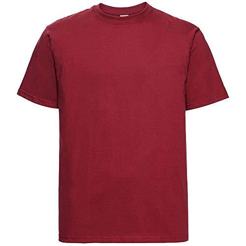 Russell Europe - Camiseta básica/clásica de Manga Corta para Hombre - 100% algodón de Primera Calidad
