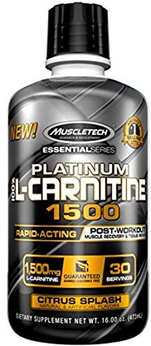 Muscletech Essential Series Platinum 100% L-Carnitine 1500 Citrus Splash - 550 gr