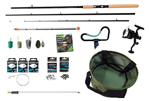 MATT HAYES ADVENTURE - Complete Feeder Ledger Fishing Set - 3m Rod Reel 6lbs Line Mixing Bowl Bank Stick End Terminal Tackle With Handy Guide Book - Ideal Starter/Introduction Kit [99-8004]
