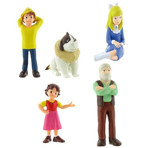 Comansi Lote 5 Figuras Heidi - Pedro Tumbado - Clara - Niebla - Abuelito
