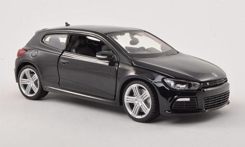 VW Scirocco III R, schwarz , Modellauto, Fertigmodell, Bburago 1:24