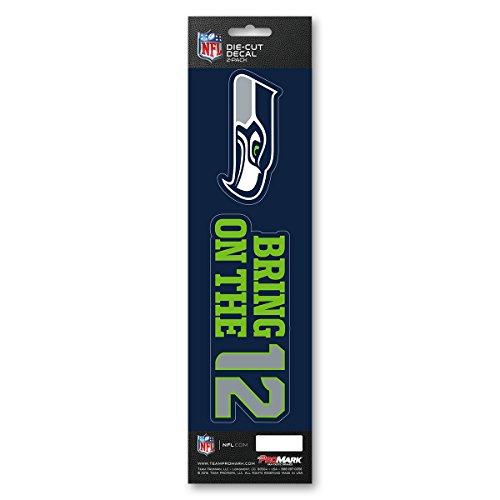 NFL – Seattle Seahawks 2-teiliges Aufkleber-Set