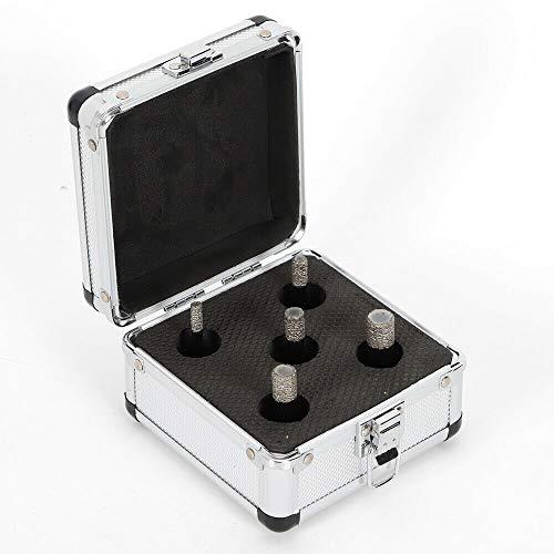 Diamantboorapparatenset, 5 stuks M14 snijder, gatenzaagboor gereedschapsset voor keramiek tegels, keramiek, porselein, marmer, zwart, universele benzine elektronica