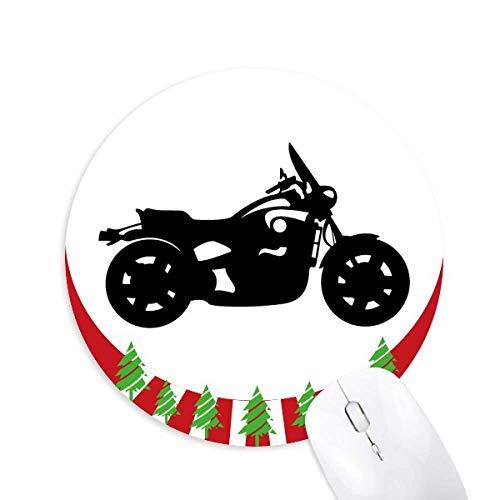 Mechanischer Motorrad Silhouette Muster Rundgummi Pad Weihnachtsdekoration