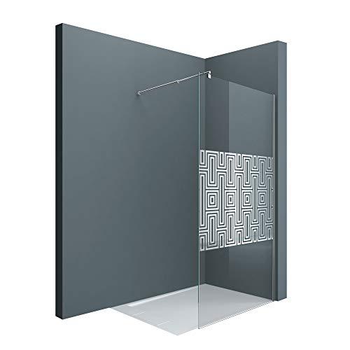 Sogood Luxus Duschwand Bremen02DM 120x200 cm Walk-In Dusche mit Stabilisator aus Edelstahl Duschabtrennung aus Echtglas 10mm ESG-Sicherheitsglas inkl. Easy-Clean-Beschichtung