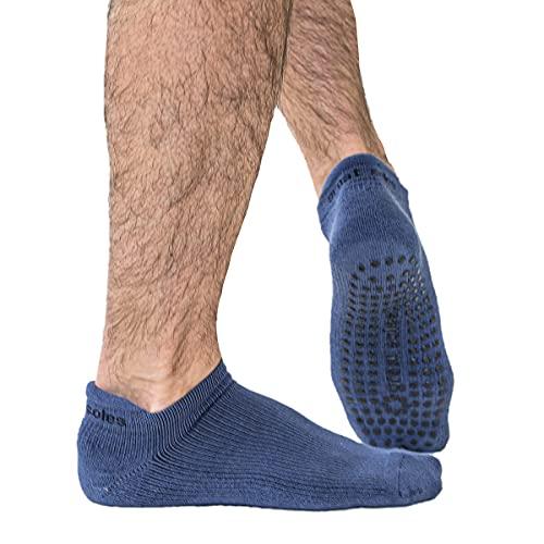 yoga socks Great Soles Tabbed Grip Socks for Men - Non Slip Yoga Socks for Pilates, Barre, Ballet and Everyday Wear