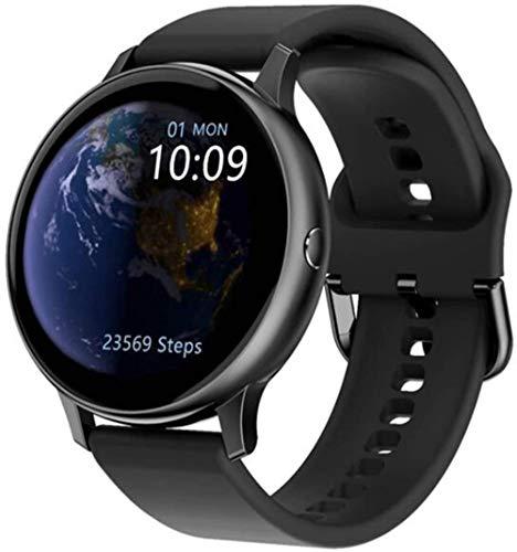 Reloj inteligente de 1,2 pulgadas, pantalla táctil completa, resistente al agua, IP67, reloj de fitness con monitor de ritmo cardíaco, podómetro, cronómetro, rastreador de fitness, color rosa y negro