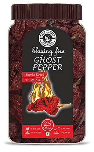 Bhut Jolokia Chilli whole- 2.5 Oz, Ghost pepper pod, Hottest Chilli...