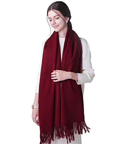 DEBAIJIA Cosy Schal Super Soft Glatt Pashmina Kälteschutz Stola Kaschmirwolle Schal für Frauen, Extra groß 200x70cm Stylish Elegant Quaste Wrap für alle Jahreszeiten