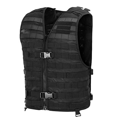 tactical vest for women Chief Tac Military Tactical Molle Vest Mesh Light Army Airsoft Paintball Utility Vest, Breathable Lightweight Hunting Fishing Vest for Men Women