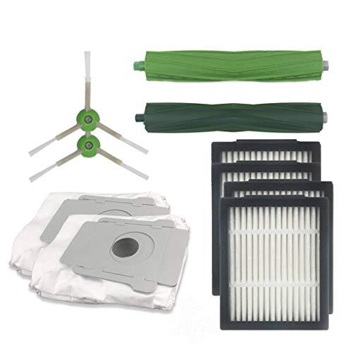YuJum Reemplazo para iRobot i7 E5 E6 Bolsa para Polvo Filtro Principal Cepillo Lateral de Cepillo del Aspirador del Kit de Partes
