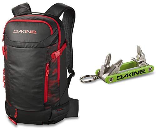 Dakine Team Heli Pro (Sammy Carlson Camo, 24L) with Dakine Fidget Tool Bundle | Functionality for Snowboard and Ski Backcountry Trips