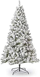 KING OF CHRISTMAS 6 Foot Prince Flock Artificial Christmas Tree Unlit