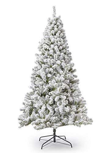 KING OF CHRISTMAS 6 Foot Prince Flock Artificial Christmas Tree Unlit, Flocked