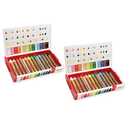 Window & Mirror Coloring Crayons - Pack of 24 with 12 Colors (2 x 12 Packs)