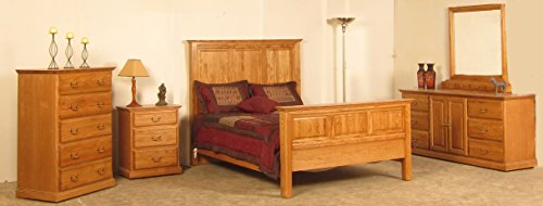 Purchase Forest Designs Traditional Queen Tall Panel Bed & Dresser & Mirror & Chest & Nightstand Ful...