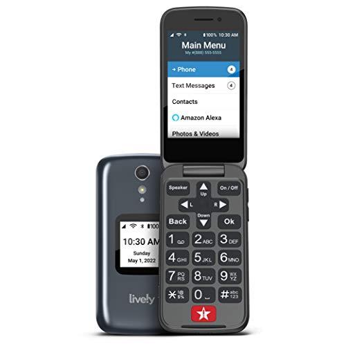 Jitterbug Flip2 Cell Phone for Seniors Gray