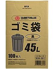 スマートバリュー ゴミ袋LDD黒45L 100枚 N138J-45