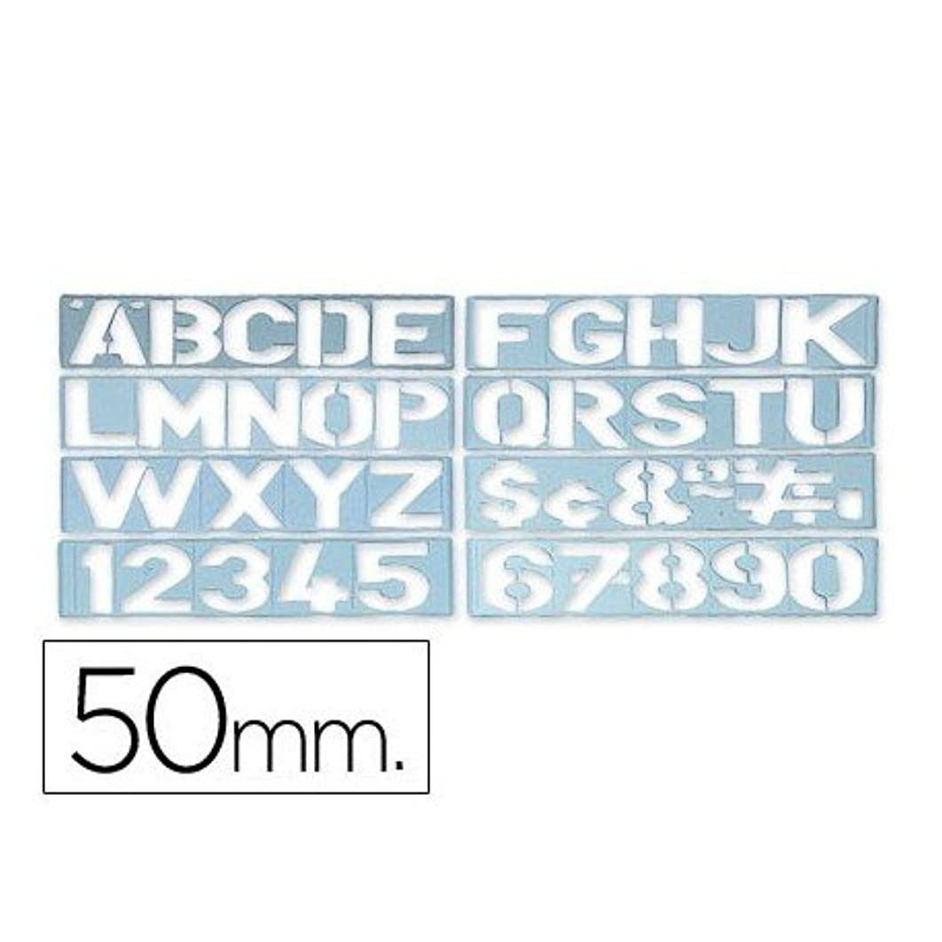 CSP 1700 Letters and Numbers Stencil 50 mm