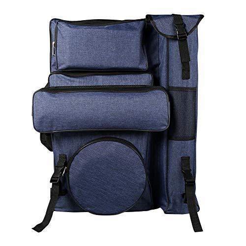 Staffelei Sitzstaffelei Art Carried Rucksack wasserdichte Portfolio Carry Case Schulter und interne Gurte Aufbewahrungstasche HUYP (Color : Blue)