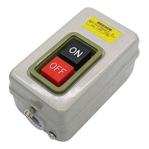 mxuteuk Push Button Switch On/Off Start Stop Self Lock Mechanical Equipment Control Station 10A AC 220V /380V BS230B